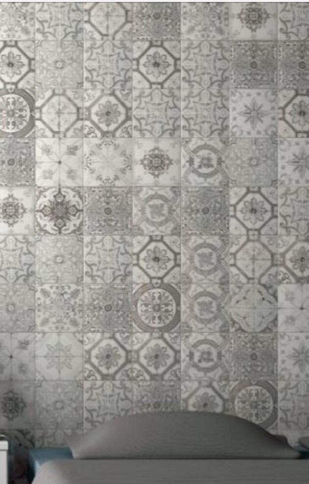 Vintage style floor tiles gurus floor for Shabby chic wall tiles