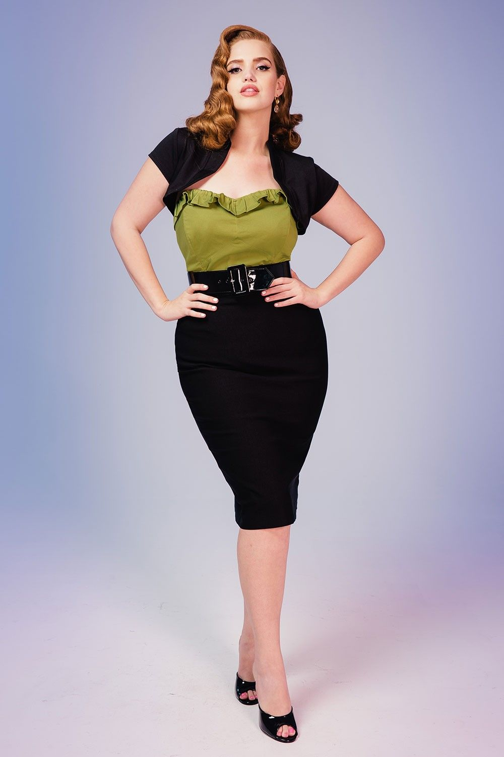 pencil skirt in black plus size clothes
