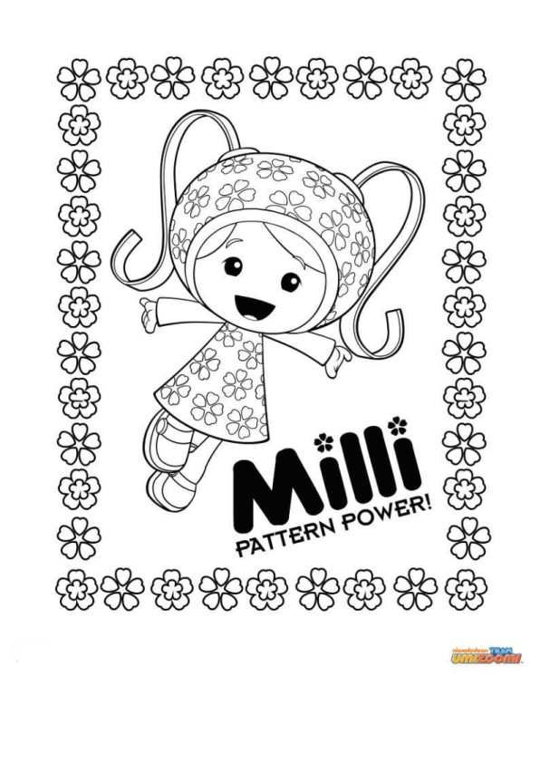 Kids N Fun Coloring Page Team Umizoomi Milli Team Umizoomi Team Umizoomi Birthday Cool Coloring Pages