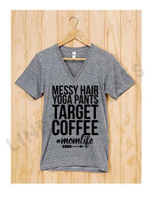 ab280ee86f Messy Hair Yoga Pants Target Coffee Mom Life by LINDSxoPRESSES ...