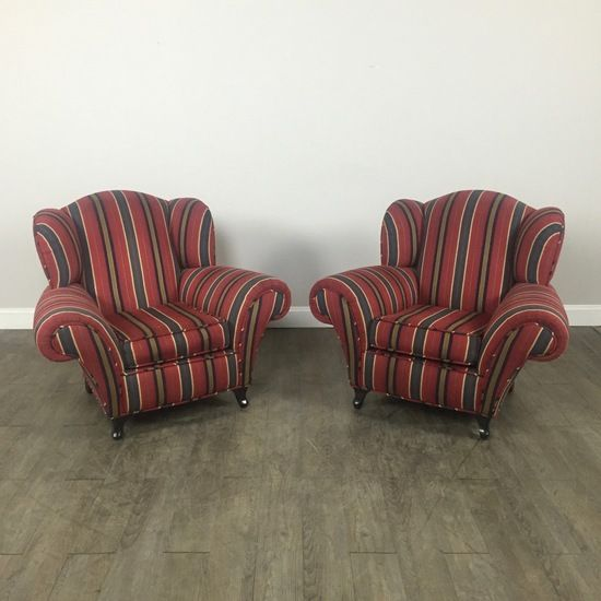 Exceptional Striped Club Chairs Set By Kravet   Chicago, IL Https://www.