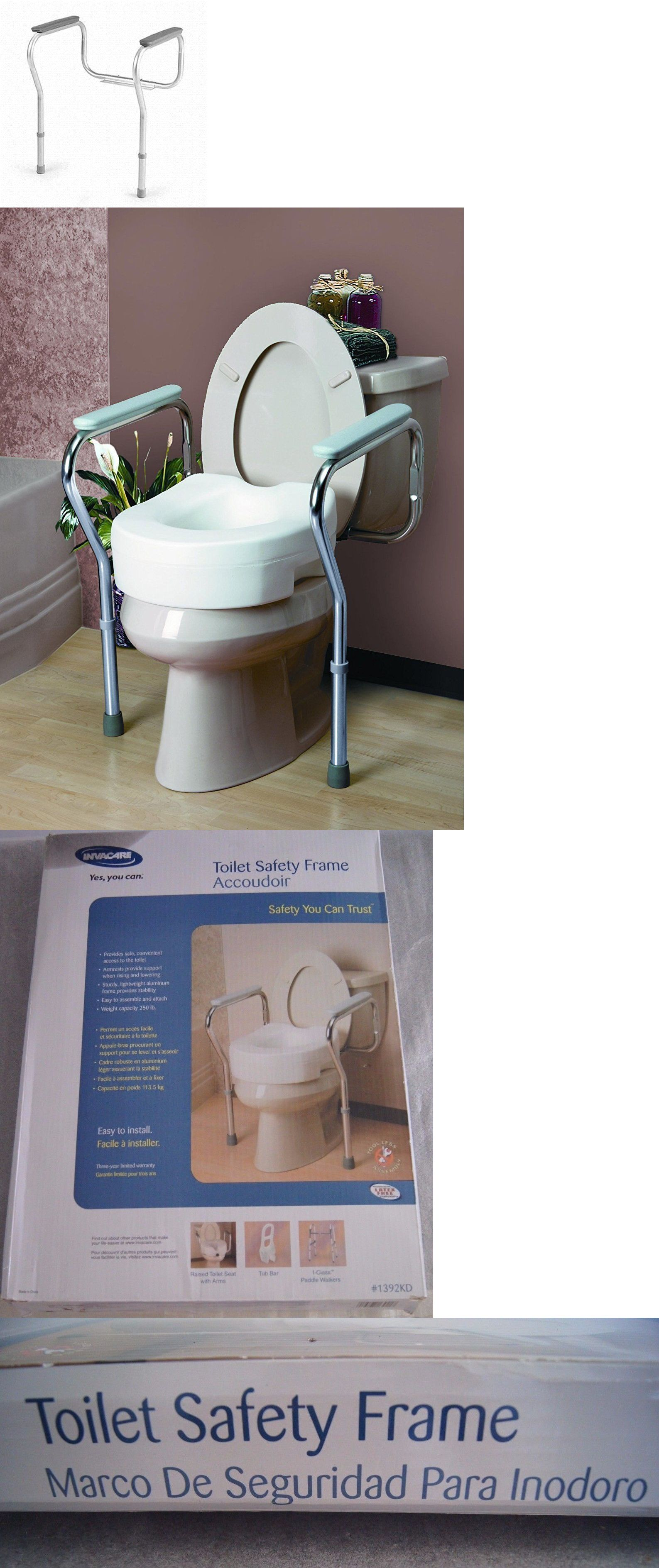 Handles and rails invacare kd aluminum toilet safety support