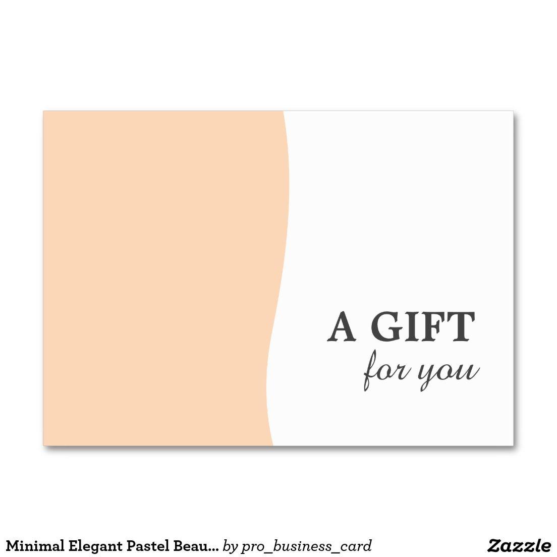 Minimal Elegant Pastel Beauty Gift Certificate Gift Certificates