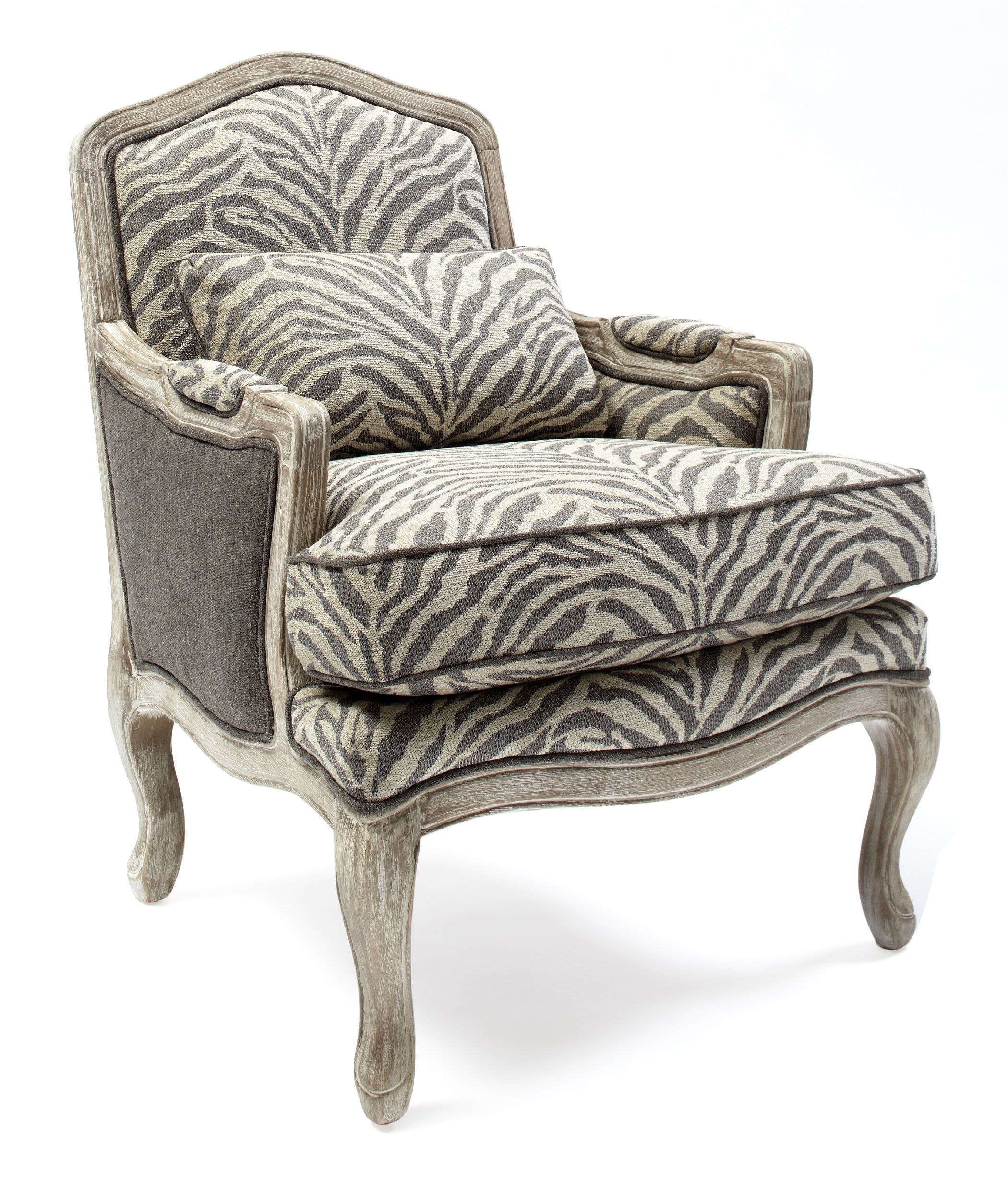 Avignon Kenya Chair St 445541 Animal Print Chair White Leather