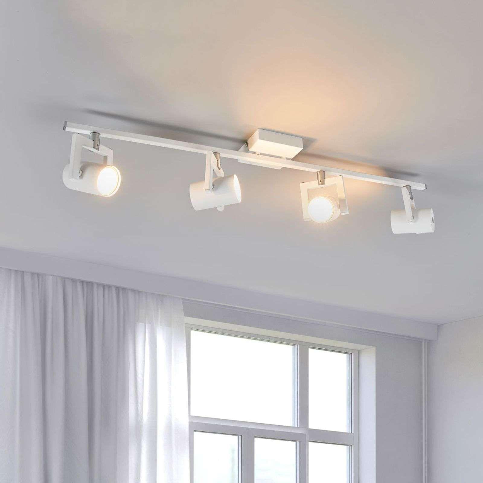 Plafonnier Led Sulamita Blanc 4 Lampes En 2020 Plafonnier Led Eclairage Plafond Et Plafonnier
