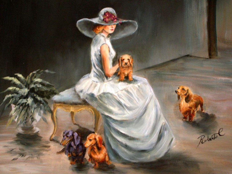 Dachshund  limited edition print dog art