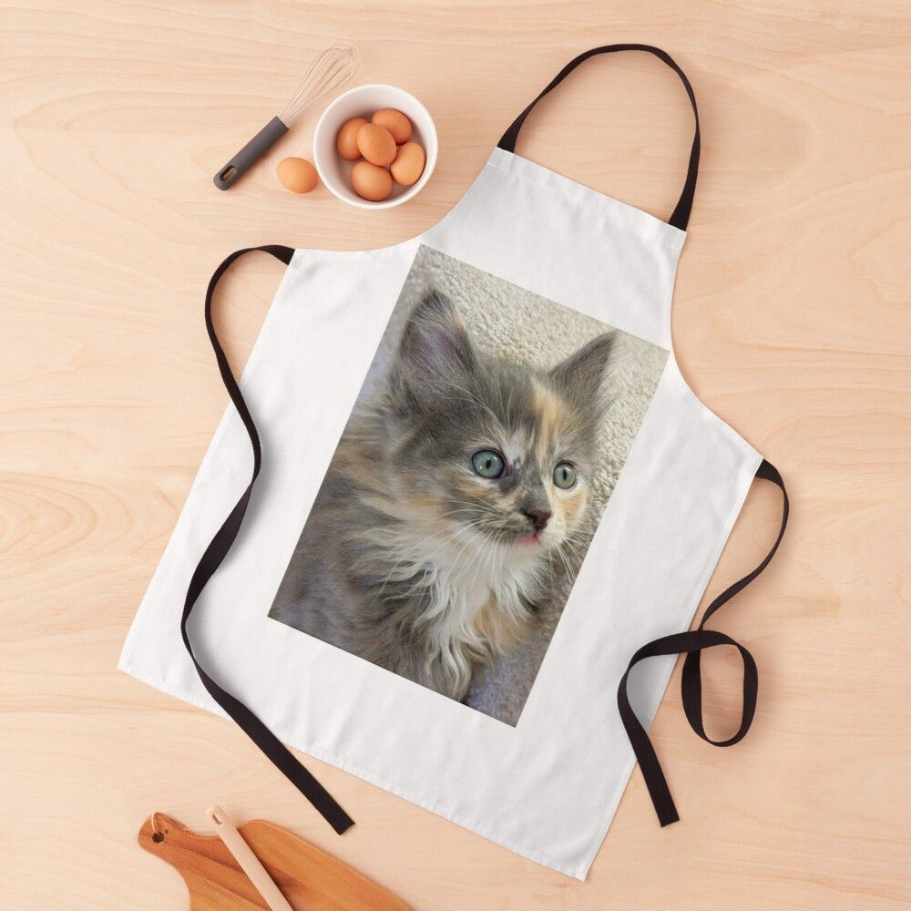 Get My Art Printed On Awesome Products Support Me At Redbubble Rbandme Https Www Redbubble Com I Apron Fluffy Kitten By F In 2020 Fluffy Kittens Kitten Kitten Art