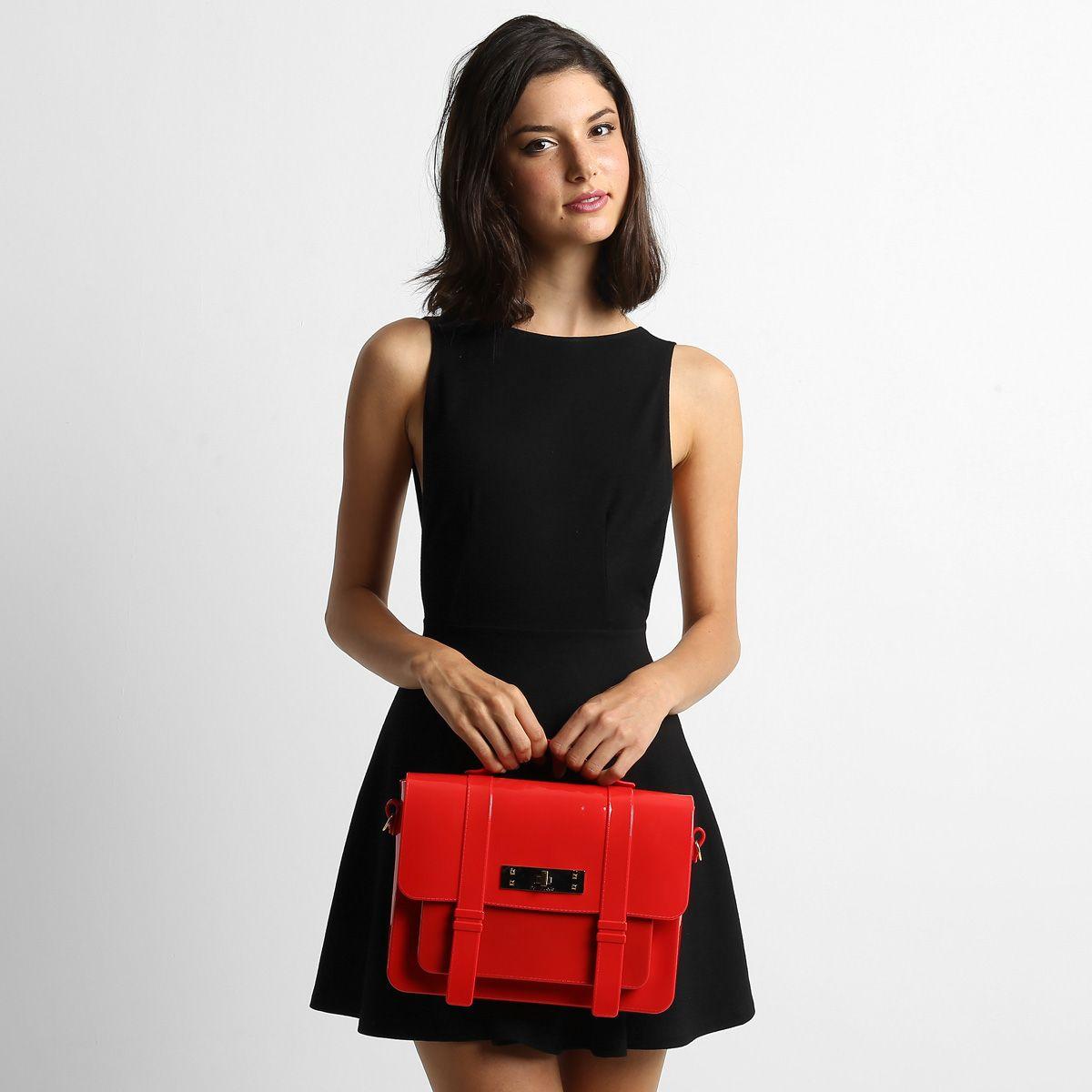 Bolsa Petite Jolie Média Transversal Azul | Zattini - A nova loja de moda online da Netshoes