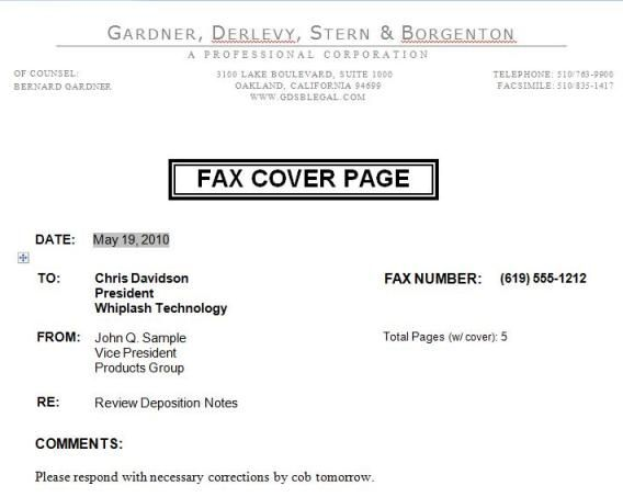 Free Printable Fax Cover Sheet Template Word -    www - legal template word