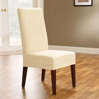 Soft Suede Cream Short Dining Chair Cover | 식탁의자,러너 ...
