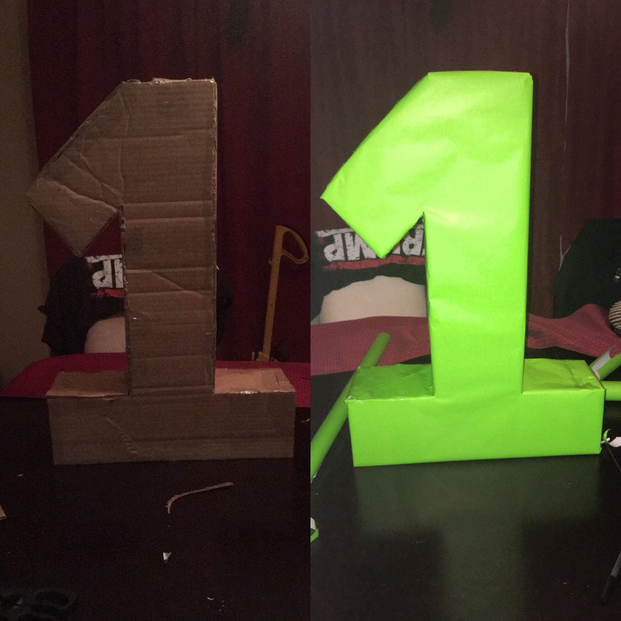 Cardboard 1 for E's 1birthday  (Monsters Inc Theme) 💚💚