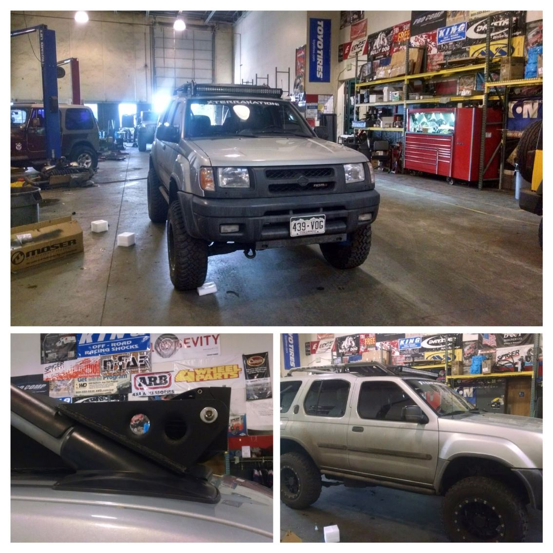 Led Light Bar On 1st Gen Xterra Brackets Courtesy Of Hudfab Nissan Xterra Led Light Bars Overland Vehicles
