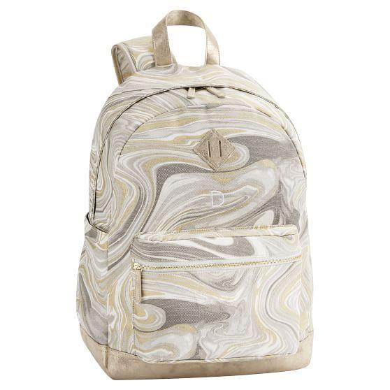 Northfield Gold Marble Metallic Backpack Metallic