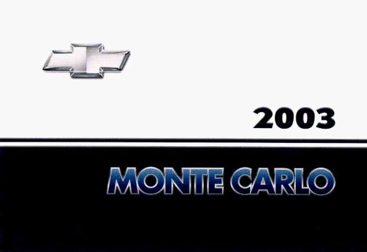 Chevrolet Monte Carlo 2003 Owner S Manual Pdf Online Download