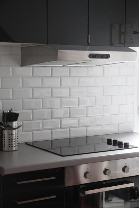 Carrelage Cuisine Mural Recherche Google Cuisine Pinterest - Carrelage gris pour cuisine pour idees de deco de cuisine