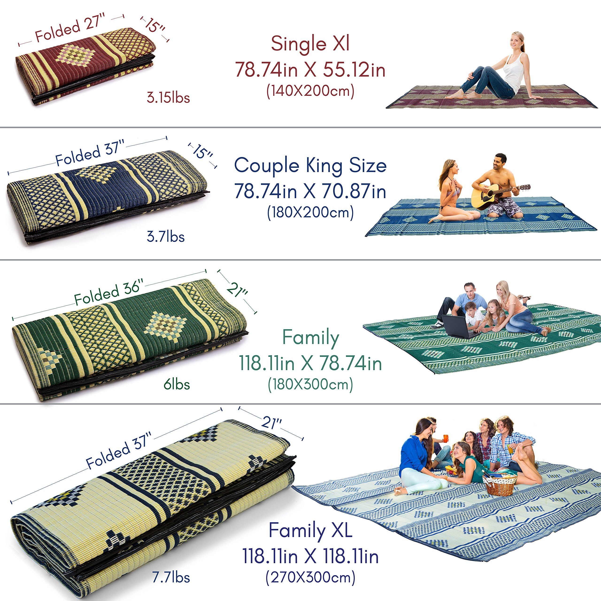Large Outdoor Camping Rugs