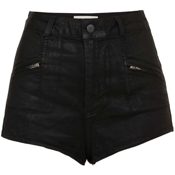 TOPSHOP MOTO Zip Shorts ($15) ❤ liked on Polyvore