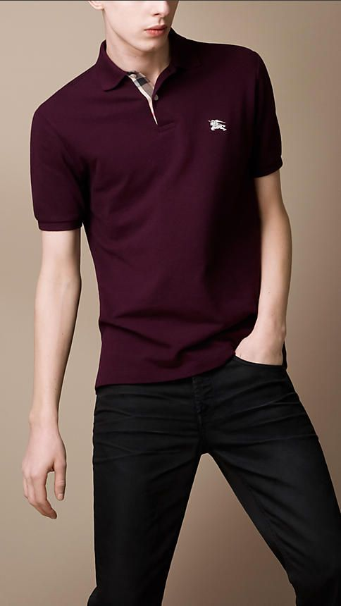 453791e5dff040 Men's Clothing in 2019 | Clothes | Burberry polo shirt, Polo shirt design,  Polo