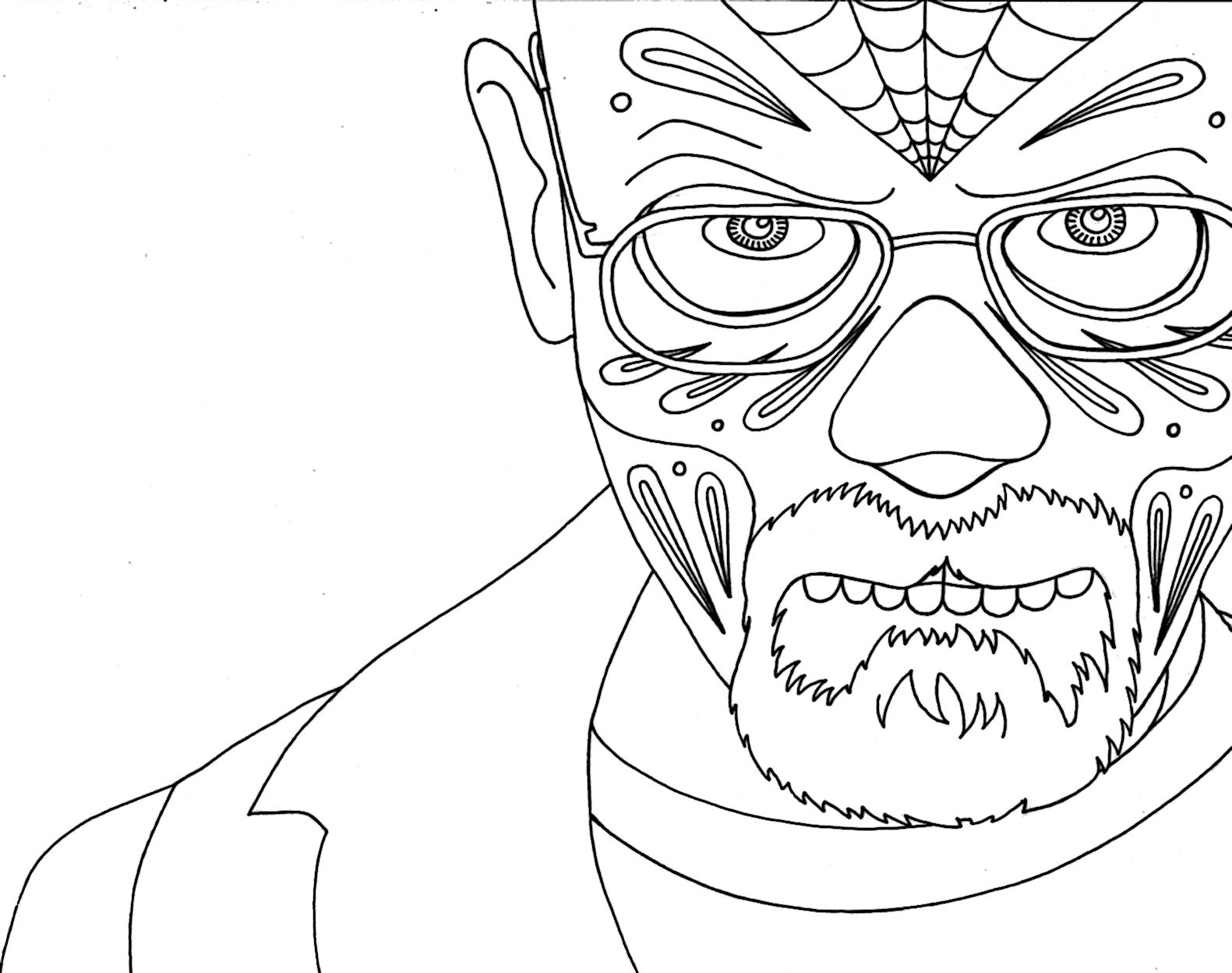 Breaking Bad Coloring Page Coloring Pages Free Printable Coloring Pages Scary Coloring Pages