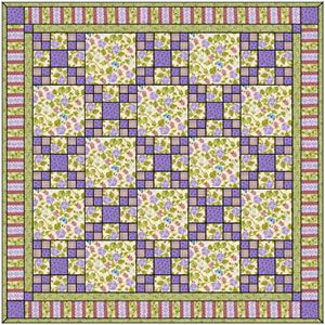 Magical Meadow: Serene Panel Print/Pieced Lap Quilt Pattern | boy ... : daisy chain quilt pattern - Adamdwight.com