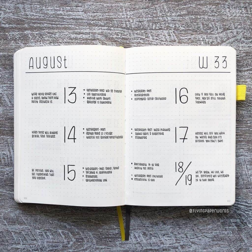 17 Minimalist bullet journal accounts to follow on Instagram in 2019