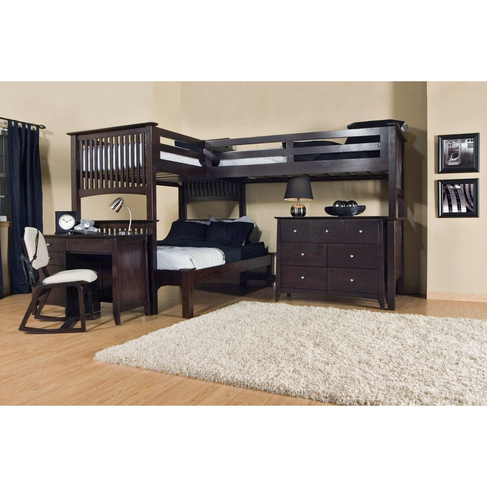 Mission Triple Lindy Loft Full 3rd Bed Bunk Beds At