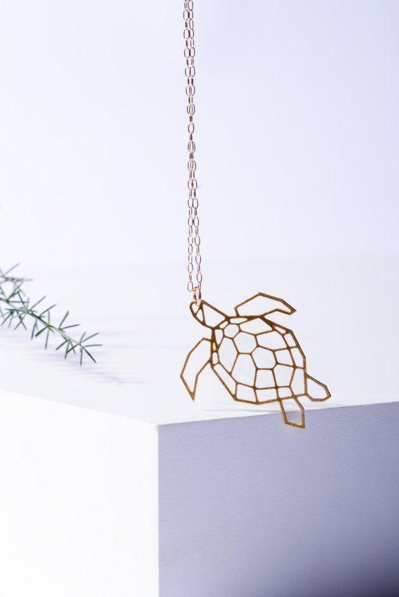 Geometric Turtle Necklace