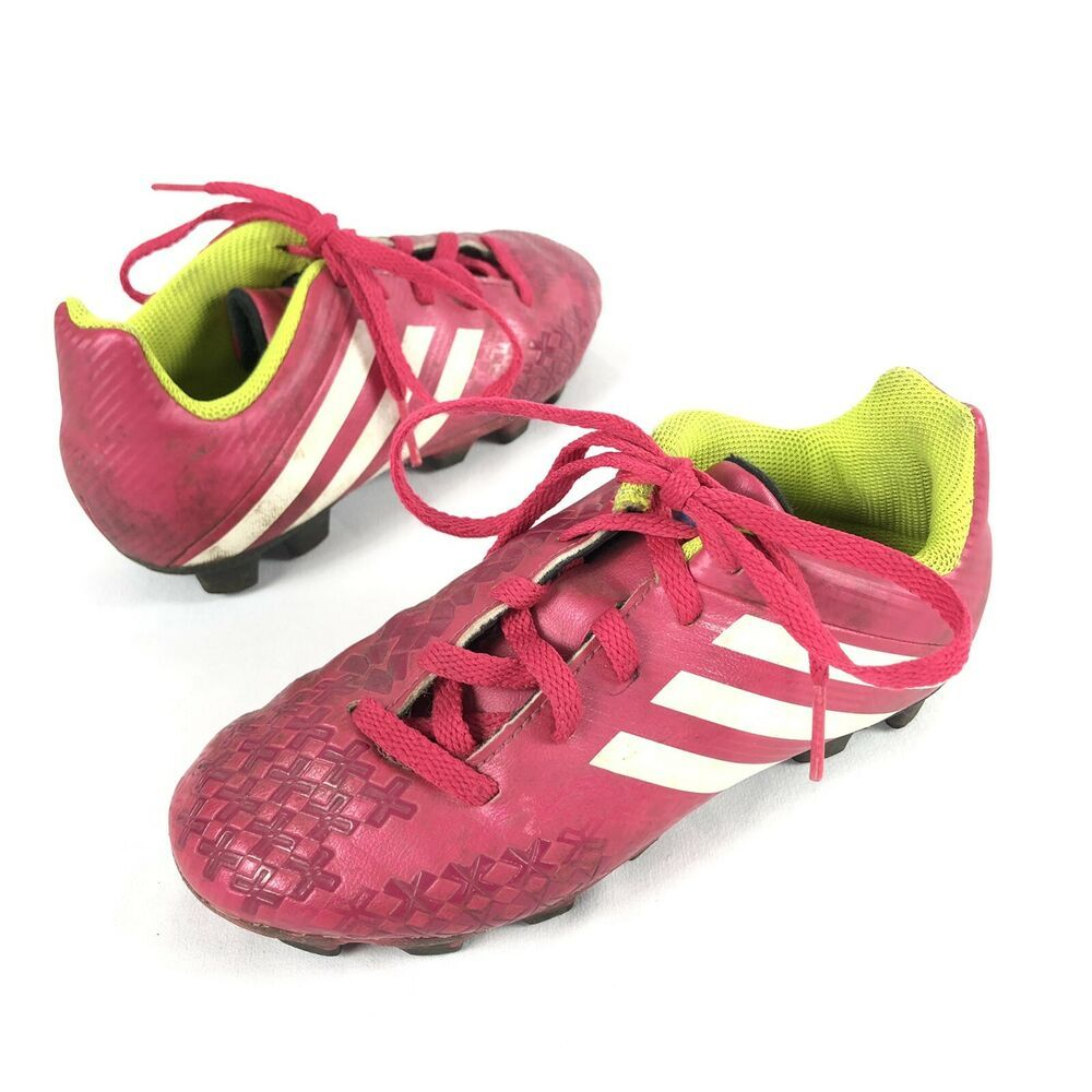 Kids Adidas Soccer Shoes Cleats Girls Pink White Green Youth Size 13k Adidas Adidas Soccer Shoes Soccer Cleats Adidas Adidas Soccer