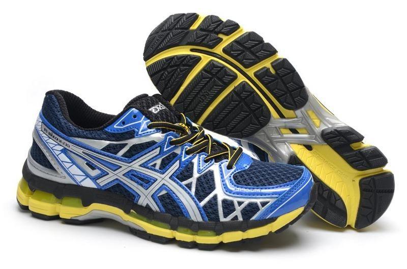 50a2f49af0b62 Asics Gel Kayano 20 Deep Shoes Blue Yellow Men