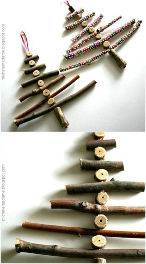25 billig und einfach DIY Haus und Garten-Projekte mit Sticks und Zweige - Diy Deko Garten #twigart