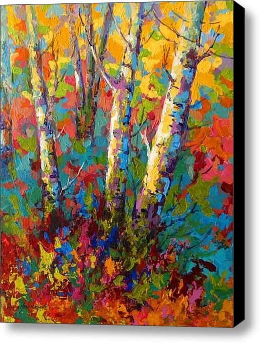 Abstract Autumn Ii Stretched Canvas Print / Canvas Art By Marion Rose