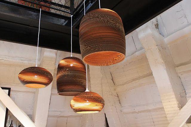 Vrijdag-verlichting: Handgemaakte kartonnen lampen van Graypants ...