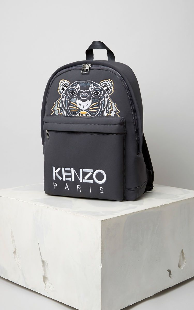 d37fc531f29 Neoprene Tiger backpack, ANTHRACITE, KENZO | Things to Wear ...
