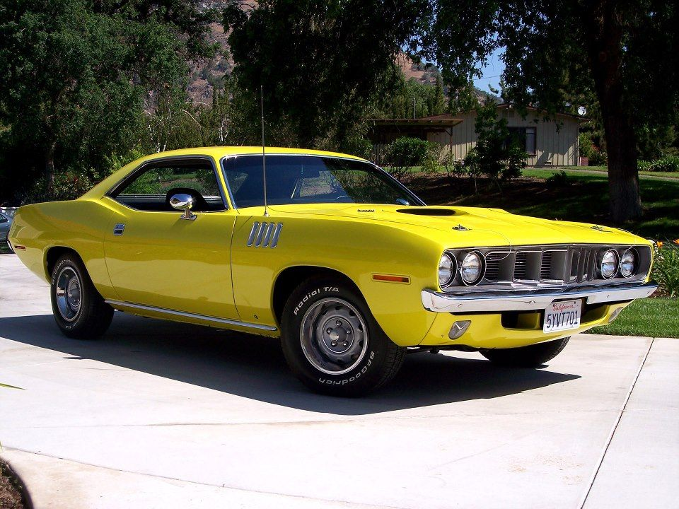 Mellow Yellow Plymouth Barracuda Plymouth Barracuda
