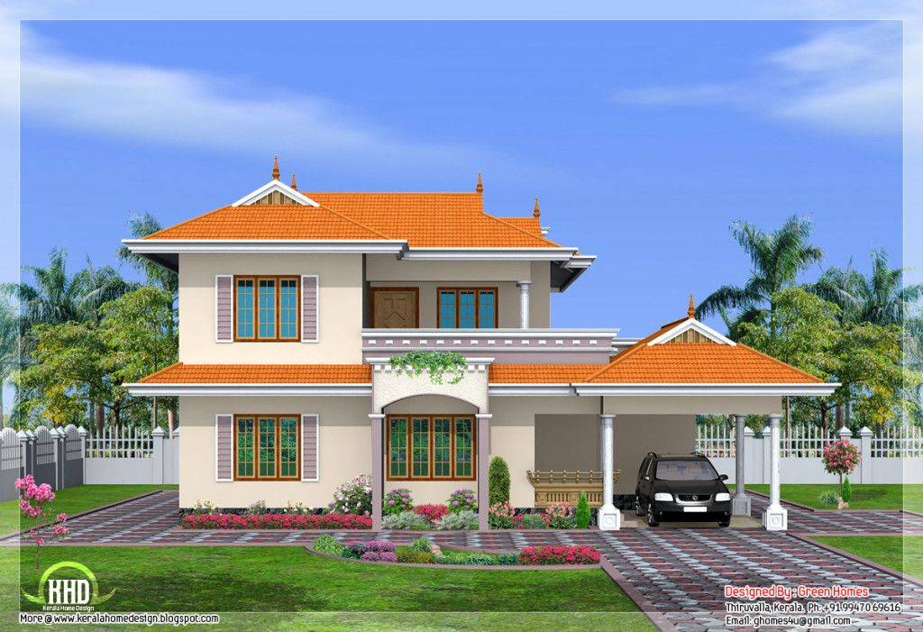 Wonderful House Design India Inspiration Sloping Roof 2storey