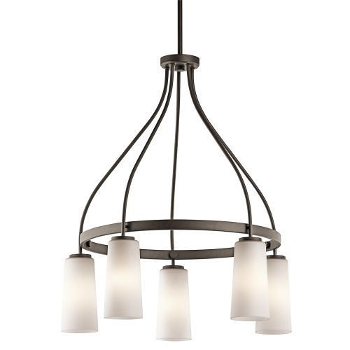 Kichler lighting whitley 5 light chandelier in olde bronze