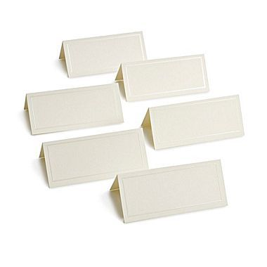 Gartner Studios Place Cards Ivory