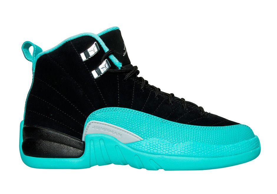 Girls Air Jordan XII (12) Retro  Hyper Jade  -Release Date  Saturday 1ff0a2ae5