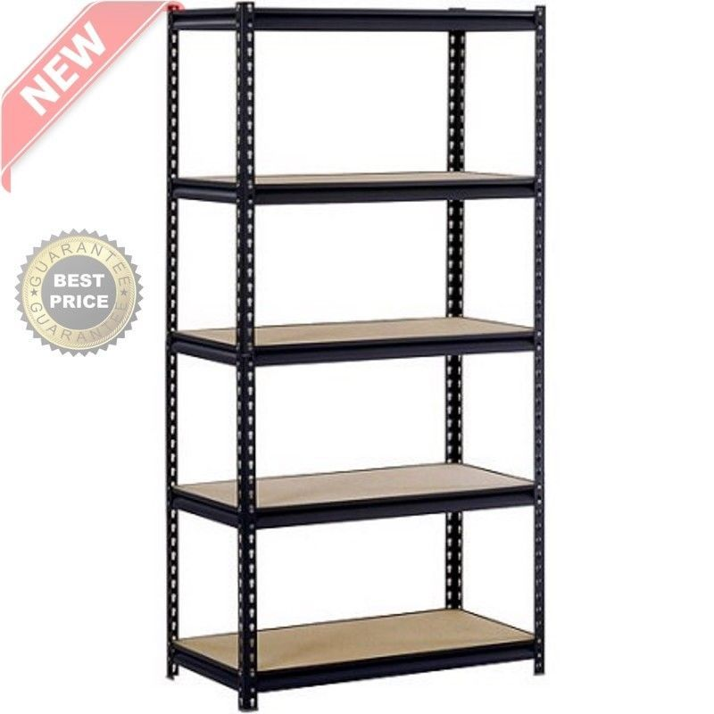 5 Level Adjustable Heavy Duty Shelves Unit Garage Shelf Steel Metal Storage Rack Edsal Metal Storage Racks Steel Shelf Garage Shelf