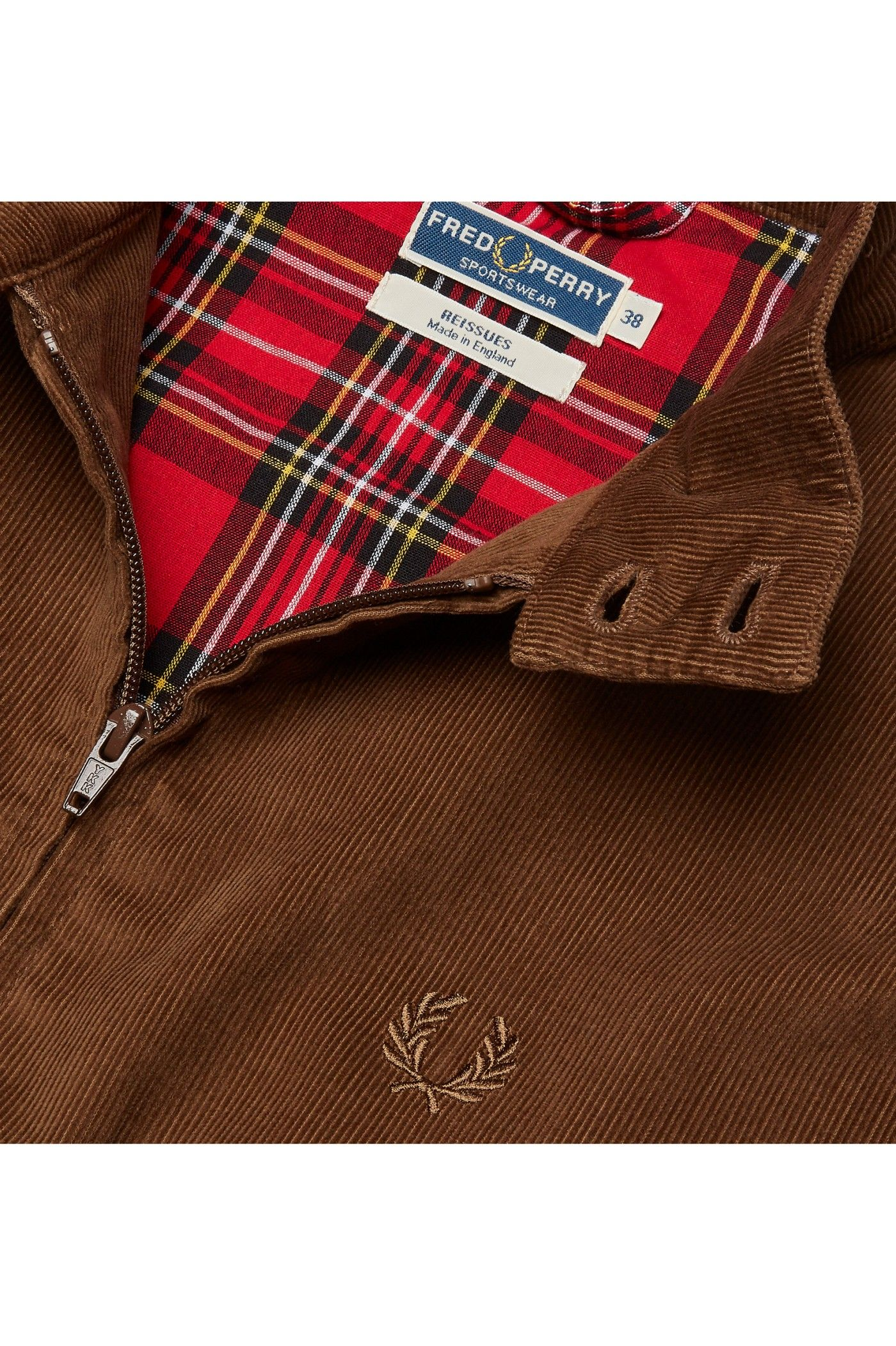 Fred Perry - Reissues Made in England Corduroy Harrington Jacket Cocoa