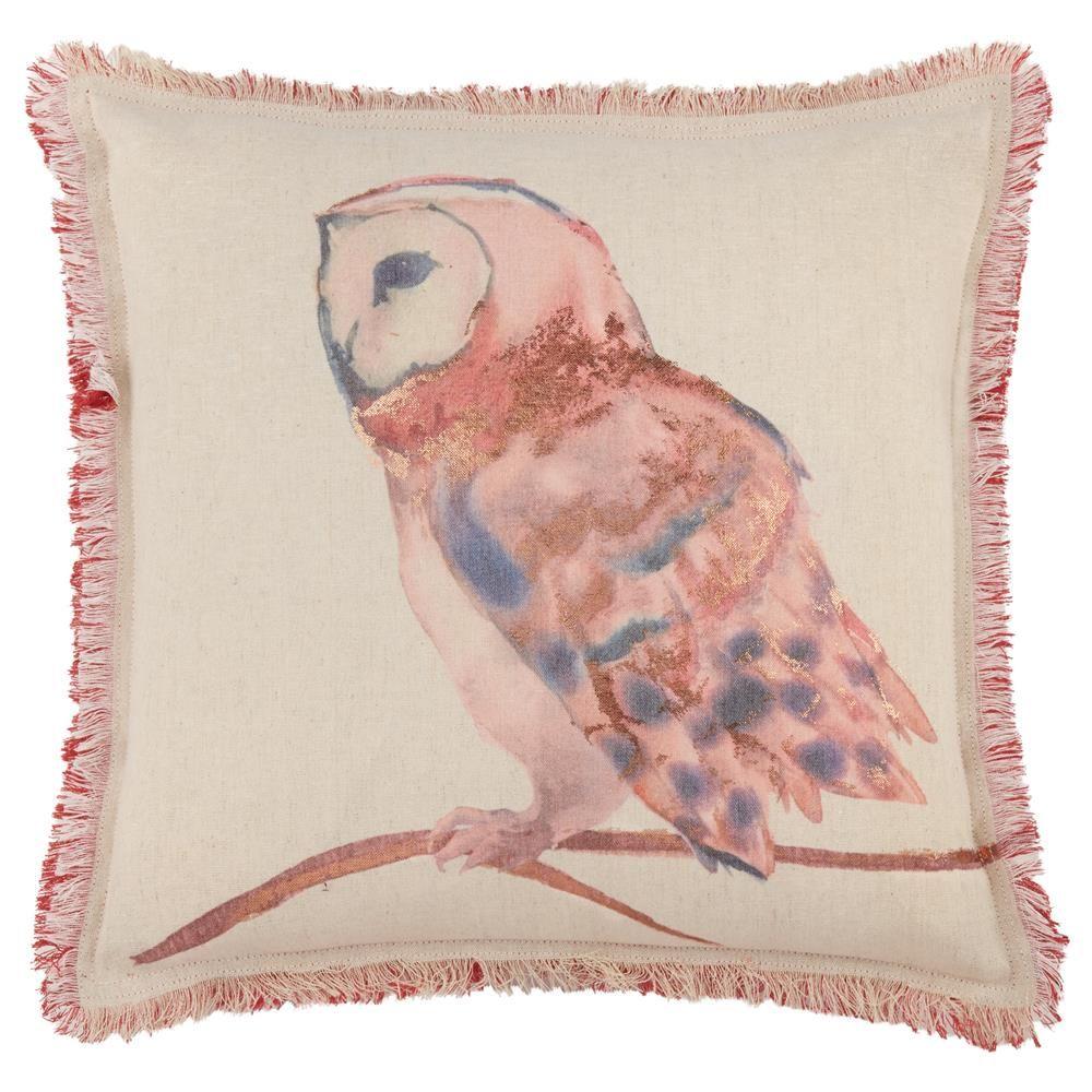 "Buho Owl Decorative Pillow 18"" X 18"""