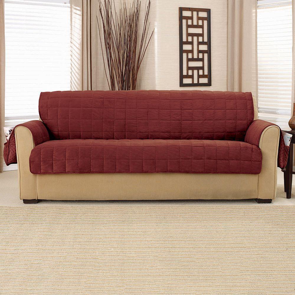 Sure Fit Deep Pile Velvet Sofa Slipcover Velvet Sofa