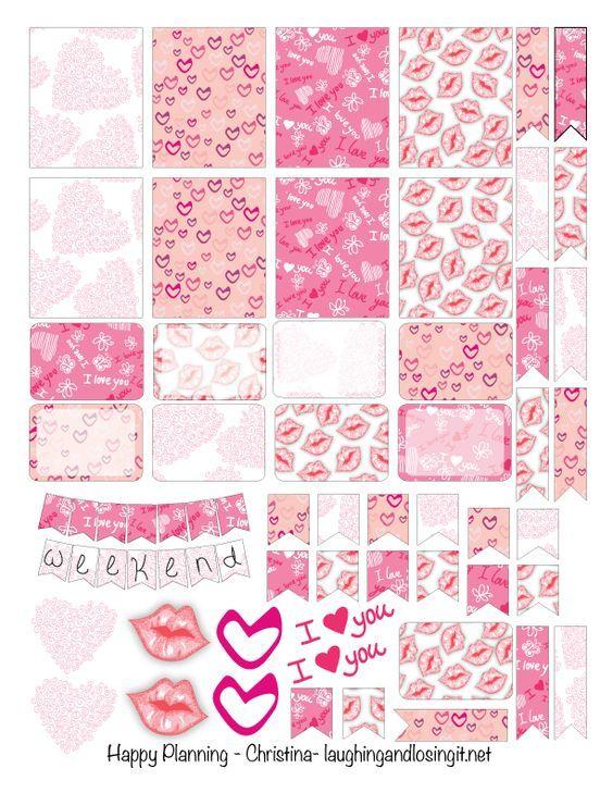 FREE Valentine Planner Stickers Printable: