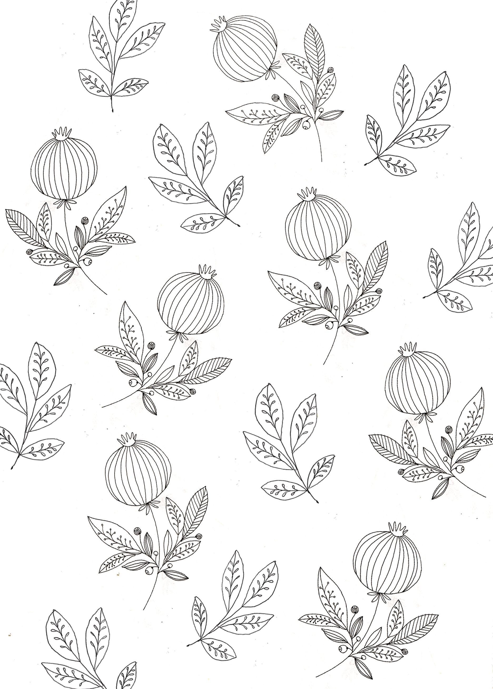 Pomegranate wallpaper. | Katt Frank. | flores silvestres | Pinterest ...