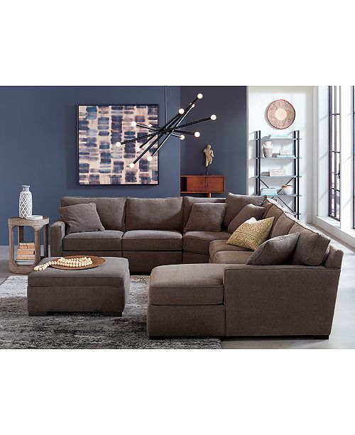 Best Furniture Radley 5 Piece Fabric Sectional Sofa With 400 x 300