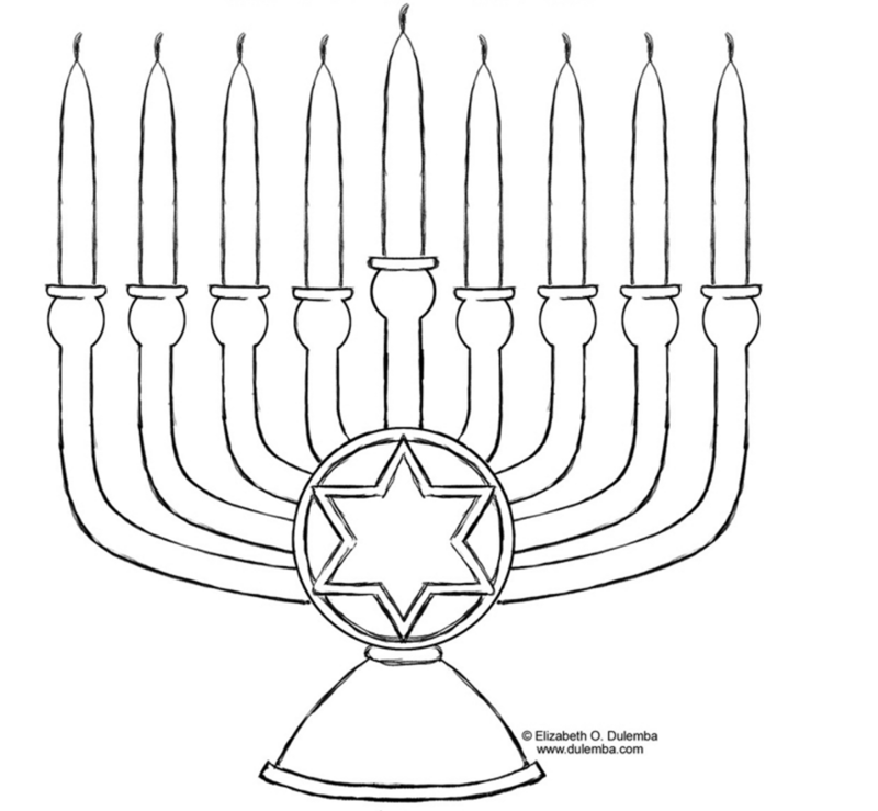 8 of the best, most artful Hanukkah coloring pages | Menorah, Free ...