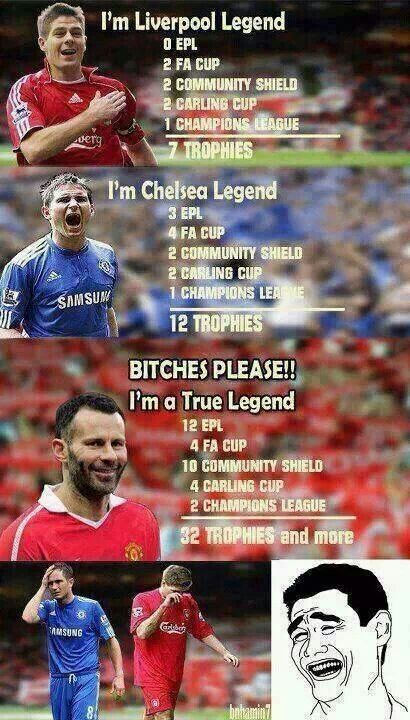 Haha Giggsy You Tell Them Whos The True Legend Manchester United Legends Manchester United Fans Manchester United Soccer