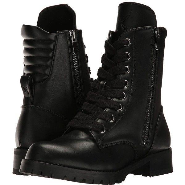 Capezio Flat Combat Boot (Black) Women