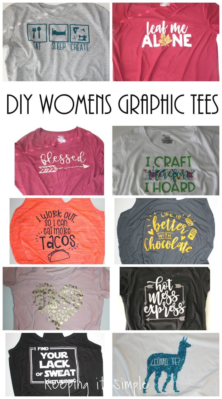 78e7fcf21 DIY Funny Womens Graphic Shirt Ideas with SVG Cut Files • Keeping it Simple