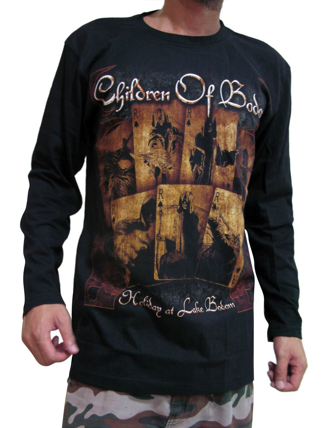 Black t shirt ebay - Children Of Bodom Holiday At Lake Bodom Mens Long Sleeve T Shirt Black M L Xl